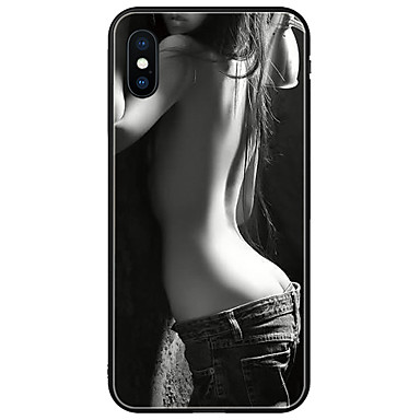 voordelige iPhone-hoesjes-hoesje Voor Apple iPhone XS / iPhone XR / iPhone XS Max Patroon Achterkant Kat / dier Zacht silica Gel