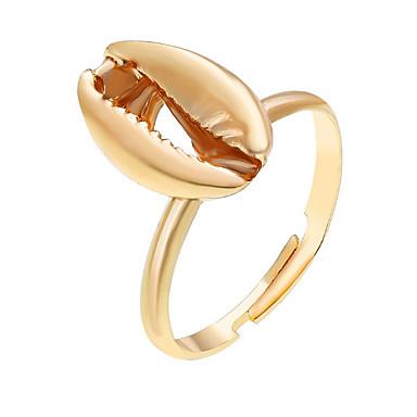 رخيصةأون خواتم-نسائي خاتم قابل للتعديل 1PC ذهبي فضي سبيكة دائري كلاسيكي هدية مناسب للبس اليومي مجوهرات هندسي أمل كوول