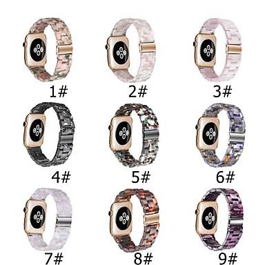 Недорогие Ремешки для Apple Watch-Ремешок для часов для Серия Apple Watch 5/4/3/2/1 Apple Современная застежка Керамика Повязка на запястье