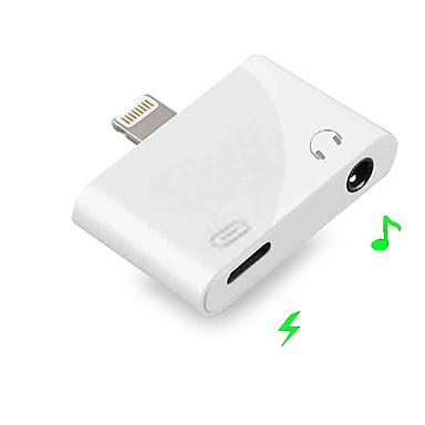 olcso Fejhallgató tartozékok-2 in 1 villámcsapás 3,5 mm-es jack fülhallgatóra aux ios 9/10/11/12 iphone xs max x 8 7 és kettős fejhallgató audio töltőadapter