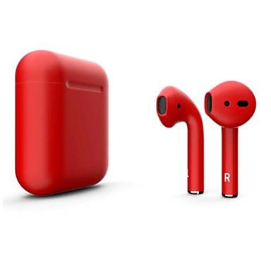 رخيصةأون سماعات أذن لاسلكية حقيقية-litbest الجديد i12 blackpods redpods tws صحيح سماعات الأذن اللاسلكية مات الجلد بلوتوث 5.0 سماعة يطفو على السطح ل ios مع ميكروفون حر اليدين التحكم باللمس سماعة