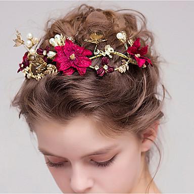 ieftine Bijuterii de Păr-Pentru femei Pentru Imitație de Perle Aliaj Roșu-aprins 1 buc