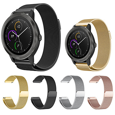 cheap Smartwatch Accessories-Watch Band for Garmin Vivomove Vivomove HR Vivoactive 3 Milanese Loop Stainless Steel Wrist Strap Sport band  fashion elegant band