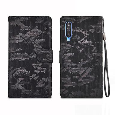 Недорогие Чехлы и кейсы для Xiaomi-Кейс для Назначение Xiaomi Xiaomi Mi 9 / Xiaomi Mi 7 / Redmi Note 7 Бумажник для карт / Магнитный / Авто Режим сна / Пробуждение Чехол Однотонный Кожа PU