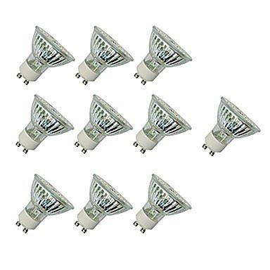 رخيصةأون LED وإضاءة-10pcs 4 W LED ضوء سبوت 300 lm GU10 GU10 60 الخرز LED SMD 2835 ديكور أبيض دافئ أبيض كول 220-240 V