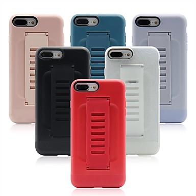 Недорогие Кейсы для iPhone X-Кейс для Назначение Apple iPhone XR / iPhone XS Max / iPhone X Кольца-держатели Кейс на заднюю панель Однотонный Мягкий ТПУ