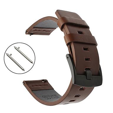 voordelige Smartwatch-accessoires-horlogeband voor kiezelsteen staal / kiezelsteen kiezel sportband lederen polsband