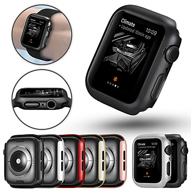 tanie Akcesoria do smartwatchów-etui na apple apple watch seria 4/3/2/1 super cienki zderzak protector pc twarda okładka lekka slim odporna na wstrząsy akcesoria pokrowiec na apple watch seria 4