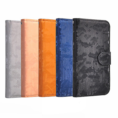billige Etuier/deksel til Xiaomi-Etui Til Xiaomi Xiaomi Mi Play / Xiaomi Mi 9 / Xiaomi Mi 7 Lommebok / Kortholder / Flipp Heldekkende etui Ensfarget Hard PU Leather