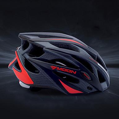 MOON Adulți biciclete Casca 21 Găuri de Ventilaţie Rezistent la Impact Modelată integral Lumina Greutate EPS PC Sport Bicicletă montană Ciclism stradal Ciclism / Bicicletă - Negru Negru / Roșu