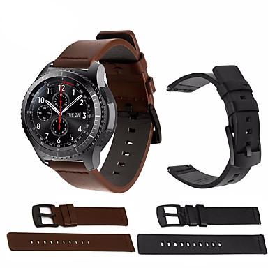 voordelige Horlogebandjes voor Samsung-horlogebandje voor samsung galaxy horloge 46 / gear s3 klassiek / gear s3 frontier samsung galaxy sportband echt leer polsband