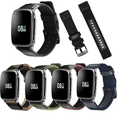 voordelige Horlogebandjes voor Pebble-Horlogeband voor Pebble Time / Pebble Time Steel Pebble Sportband Leer / Nylon Polsband
