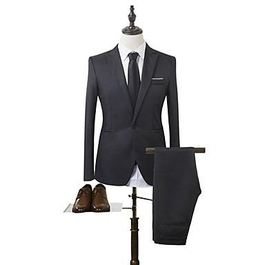 رخيصةأون سترات و بدلات الرجال-رجالي أسود نبيذ أزرق فاتح M L XL الدعاوى نحيل