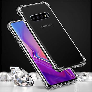 غطاء من أجل Samsung Galaxy S9 / S9 Plus / S8 Plus ضد الصدمات / شفاف غطاء كامل للجسم لون سادة ناعم TPU