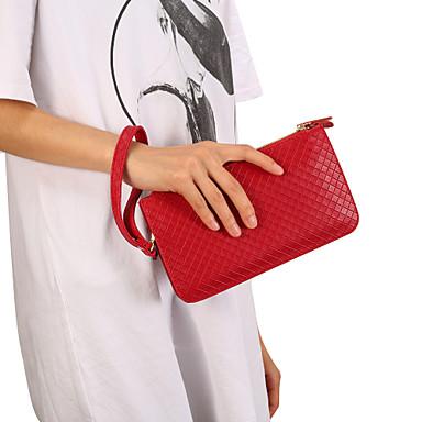Недорогие Универсальные чехлы и сумочки-6,3-дюймовый чехол для универсального кошелька / держателя карты сумка сплошного цвета мягкой искусственной кожи