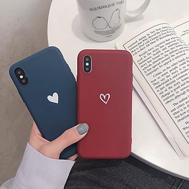 Недорогие Кейсы для iPhone 6-Кейс для Назначение Apple iPhone XS / iPhone XR / iPhone XS Max С узором Кейс на заднюю панель С сердцем Мягкий ТПУ