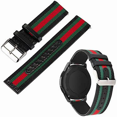 voordelige Smartwatch-accessoires-Horlogeband voor LG G Watch W100 / LG G Watch R W110 / LG Watch Urbane W150 LG Sportband Nylon / Echt leer Polsband