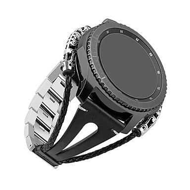 voordelige Smartwatch-accessoires-Horlogeband voor Gear S3 Frontier / Gear S3 Classic Samsung Galaxy DHZ Gereedschap Leer Polsband