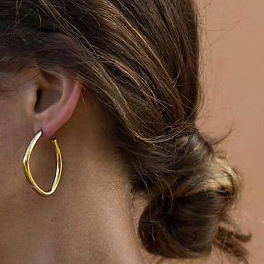 olcso Karika fülbevalók-Női Francia kapcsos fülbevalók Fülbevaló Egyszerű Alap Divat Modern Fülbevaló Ékszerek Arany / Ezüst Kompatibilitás Ajándék Napi Utca Munka 1 pár