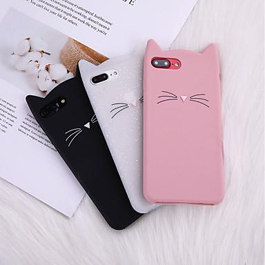 voordelige iPhone-hoesjes-case voor iphone 8 plus achterkant van de behuizing zachte cover tpu kat kat oor baard siliconen zachte volgende zachte tpu voor iphone x 7 plus 7 6 plus 6 8