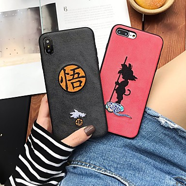 Недорогие Кейсы для iPhone 6 Plus-Кейс для Назначение Apple iPhone XS / iPhone XR / iPhone XS Max С узором Кейс на заднюю панель Мультипликация Твердый текстильный / ПК