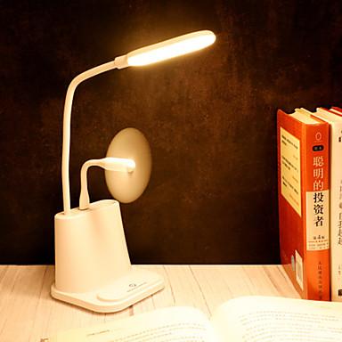 olcso Ventilátor-1db multifunkcionális érintőképernyős USB asztali lámpa tanuló asztali irodai hálószoba feltöltött olvasólámpa vezetett szemvédő asztali lámpa ventilátor