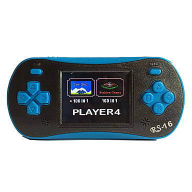 olcso Játékkonzolok-rs-16 retro kézi játékjátékos gyerekeknek hordozható játékrendszer videojáték-lejátszó 2,5 lcd beépített 260 klasszikus játék
