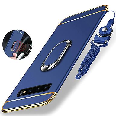 Недорогие Чехлы и кейсы для Galaxy S-Кейс для Назначение SSamsung Galaxy S9 / S9 Plus / S8 Plus Защита от удара / Покрытие / Кольца-держатели Кейс на заднюю панель Однотонный Твердый ПК / Металл