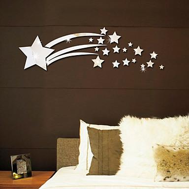 shining stars 3d wall stickers - ملصقات الحائط مرآة الأشكال غرفة الدراسة / مكتب / غرفة الطعام / المطبخ