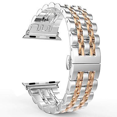 Недорогие Аксессуары для смарт-часов-Ремешок для часов для Apple Watch Series 4/3/2/1 Apple Бабочка Пряжка Нержавеющая сталь Повязка на запястье