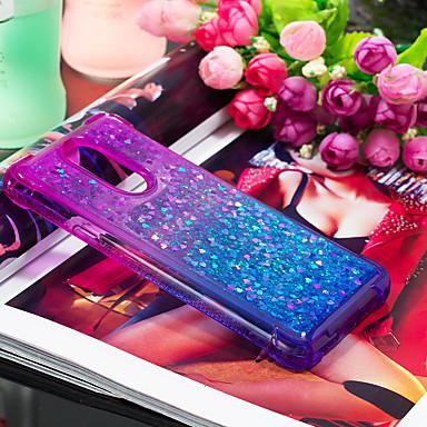 Недорогие Чехлы и кейсы для LG-Кейс для Назначение LG LG Q Stylus / LG Stylo 4 Защита от удара / Движущаяся жидкость Кейс на заднюю панель Градиент цвета Мягкий ТПУ