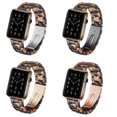 Недорогие Аксессуары для смарт-часов-Ремешок для часов для Серия Apple Watch 5/4/3/2/1 Apple Современная застежка силиконовый / Pезина Повязка на запястье