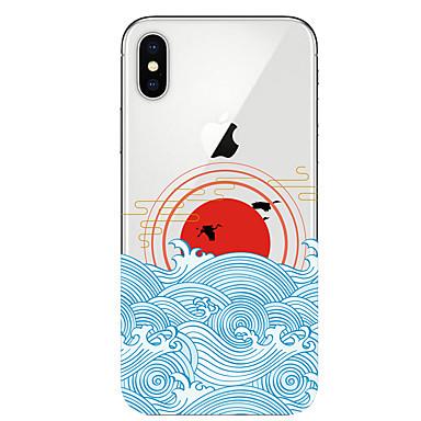 voordelige iPhone-hoesjes-hoesje voor apple iphone xr / iphone xs max patroon achterkant landschap soft tpu voor iphone x xs 8 8plus 7 7plus 6 6plus 6s 6s plus