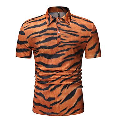 povoljno Muške polo majice-Veličina EU / SAD Polo Muškarci Pamuk Karirani uzorak Kragna košulje Kolaž Obala