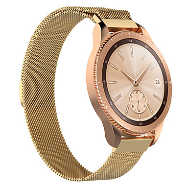 voordelige Smartwatch-accessoires-Horlogeband voor Samsung Galaxy Watch 42 Samsung Galaxy Milanese lus Roestvrij staal Polsband