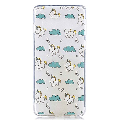 غطاء من أجل Samsung Galaxy S9 / S9 Plus / S8 Plus شفاف / نموذج غطاء خلفي حيوان ناعم TPU