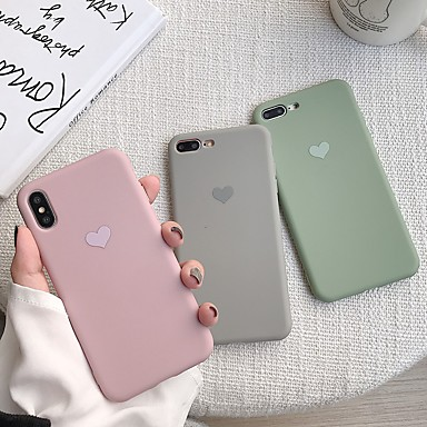 voordelige iPhone 7 Plus hoesjes-hoesje voor apple iphone xr / iphone xs max patroon achterkant hart soft tpu voor iphone x xs 8 8plus 7 7 plus 6 6s 6 plus 6s plus