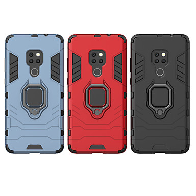 رخيصةأون Huawei أغطية / كفرات-غطاء من أجل Huawei Huawei P20 / Huawei P20 Pro / Huawei P20 lite ضد الصدمات / حامل الخاتم غطاء خلفي درع قاسي الكمبيوتر الشخصي