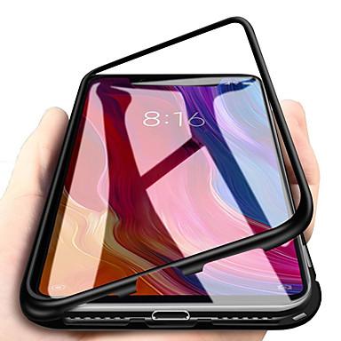 Недорогие Чехлы и кейсы для Galaxy Note-односторонний магнитный чехол для телефона samsung galaxy s9 / s9 plus / note 9 магнитная задняя крышка из сплошного цветного закаленного стекла / металлическая