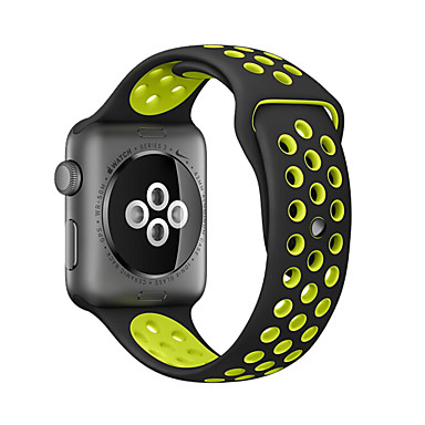 billiga Apple Watch-klockarmband-klockband för apple watch serie 5/4/3/2/1 apple classic spänne silikon handledsband 38mm 40mm 42mm 44m