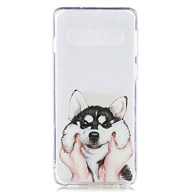 رخيصةأون حافظات / جرابات هواتف جالكسي S-غطاء من أجل Samsung Galaxy S9 / S9 Plus / S8 Plus شفاف / نموذج غطاء خلفي كلب ناعم TPU