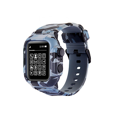 Недорогие Ремешки для Apple Watch-Ремешок для часов для Apple Watch Series 4 / Apple Watch Series 3 / Apple Watch Series 2 Apple Спортивный ремешок силиконовый Повязка на запястье