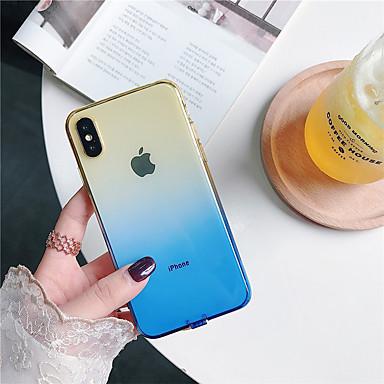 voordelige iPhone-hoesjes-hoesje voor apple iphone xr / iphone xs max doorschijnend cover cover gradient / transparent solid soft tpu voor iphone x xs 8 8plus 7 7plus 6 6plus 6s 6s plus