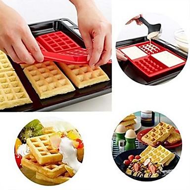 رخيصةأون أدوات الفرن-مل 3pcs جل السيليكا اصنع بنفسك نسيج الهراء مستطيل الخبز ماتس & بواخر الركاب أدوات خبز