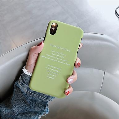Недорогие Кейсы для iPhone X-чехол для яблока iphone xr / iphone xs max шаблон задняя обложка слово / фраза жесткий ПК для iphone 6 6s 6plus 6s plus 7 8 7plus 8plus x xs