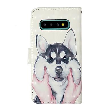 Недорогие Чехлы и кейсы для Galaxy S-Кейс для Назначение SSamsung Galaxy S9 / S9 Plus / S8 Plus Кошелек / Бумажник для карт / со стендом Чехол С собакой Твердый Кожа PU