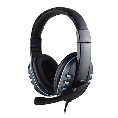 olcso Gaming fülhallgatók-vezetékes sztereó pro fejhallgató játék fülhallgató 3,5 mm-es jack a Sony playstation4-hez ps4 ps3-vezérlő pc-játék fejhallgató mikrofonnal