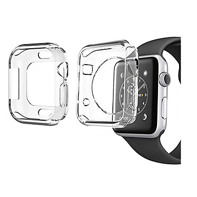 Недорогие Аксессуары для мобильных телефонов-2 пакета для серии Apple Watch 4 3 2 1 Защитная пленка для экрана чехол мягкий прозрачный тонкий 40мм 44мм 38мм 42мм