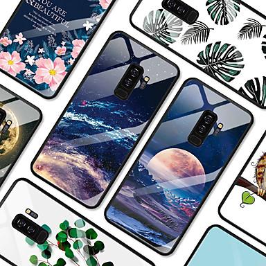 Недорогие Чехлы и кейсы для Galaxy S-Кейс для Назначение SSamsung Galaxy S9 / S9 Plus Защита от удара / Защита от пыли Кейс на заднюю панель Мультипликация Твердый ТПУ / Закаленное стекло