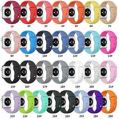voordelige Apple Watch-bandjes-slimme horlogeband voor Apple Watch-serie 5/4/3/2/1 Apple Sport Band siliconen polsband vervangende banden compatibel met Apple horlogeband 38 mm 40 mm 42 mm 44 mm zachte siliconen